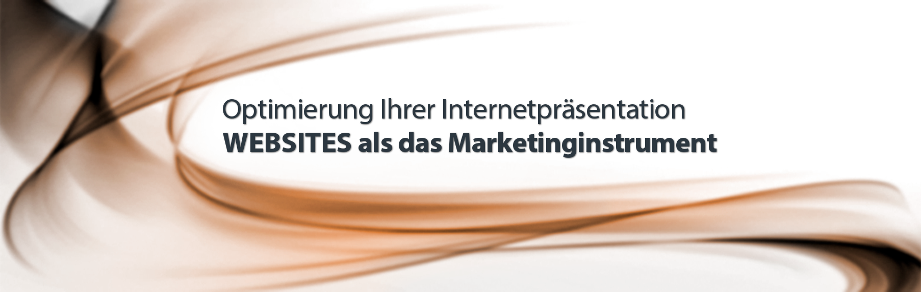 Optimierung Ihrer Internetpräsentation. Websites als das Marketinginstrument.